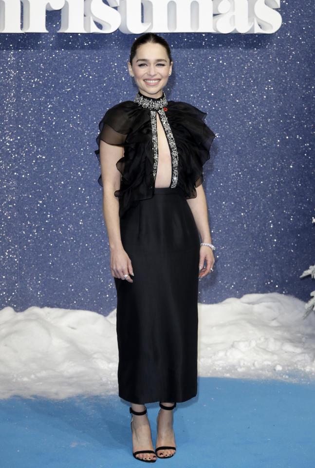 Emilia Clarke wearing Prada. <em>[Photo: Getty]</em>