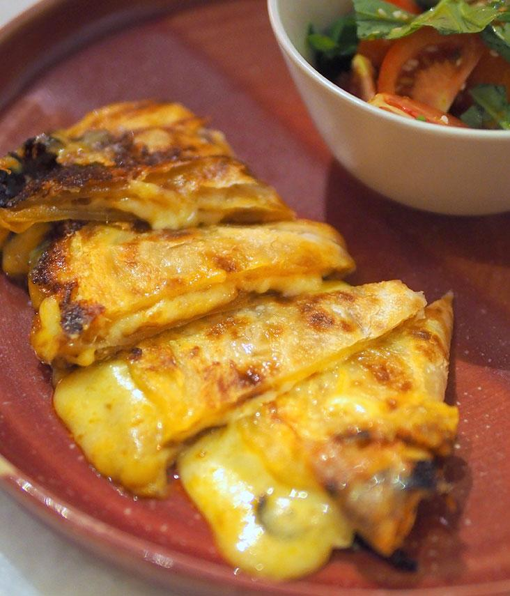 Originally served at Adu's Champor-Champor restaurant in Langkawi and subsequently in London, this 'roti canai' tortilla marries cheese with our favourite flatbread