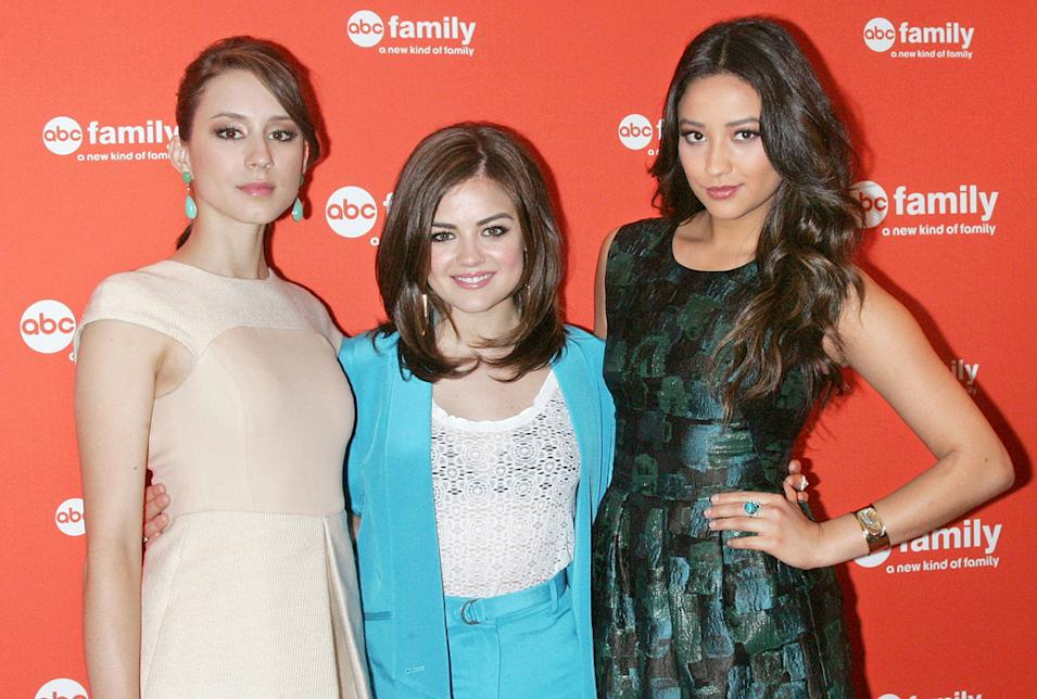 Troian Bellisario, Lucy Hale and Shay Mitchell