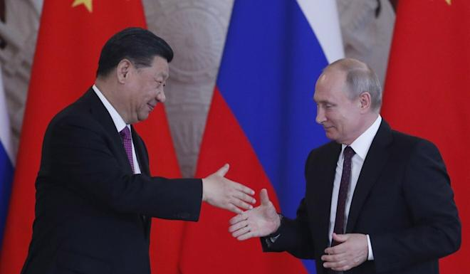 Chinese President Xi Jinping and Russian President Vladimir Putin have spoken four times over the telephone this year. Photo: EPA-EFE