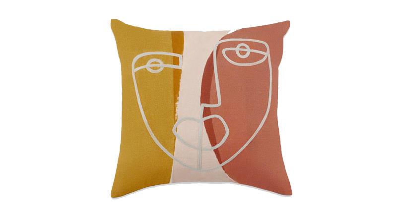Salo Embroidered Face Cushion