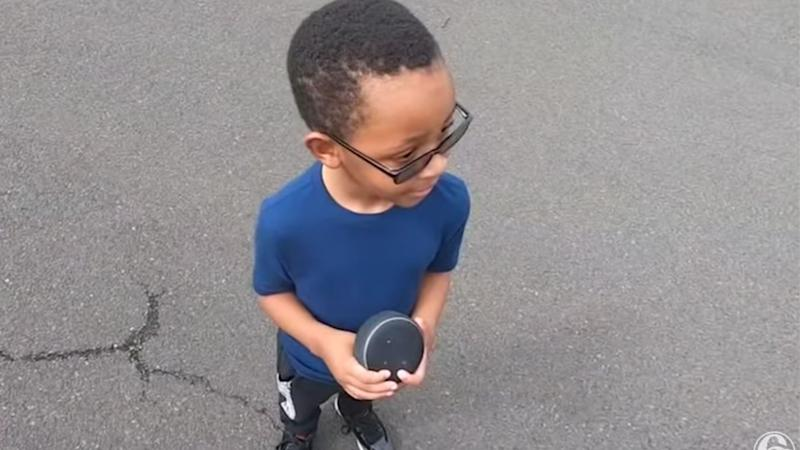 Tyrion Spann, 5, used Amazon's Alexa to call for help after his mother suffered an epileptic seizure. Image via 6 ABC Philadelphia/ Youtube.