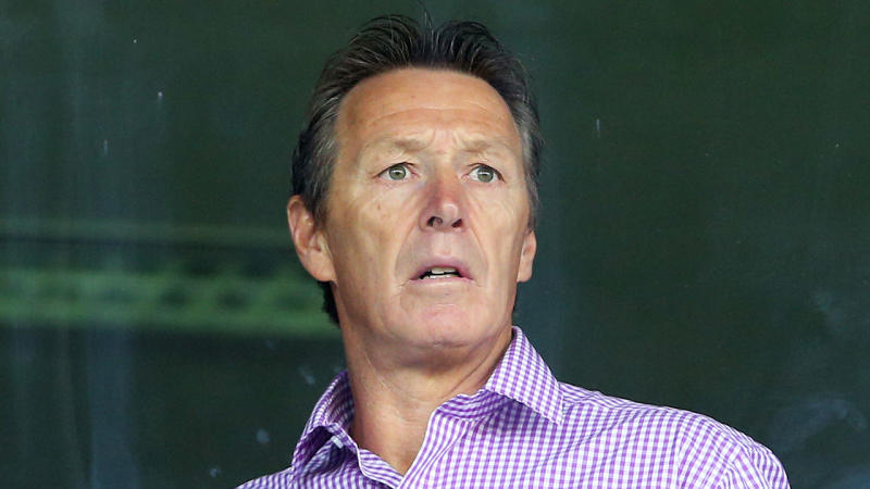 Craig Bellamy the coach of the Storm watches on from the coaches box during the round one NRL match between the Melbourne Storm and the St George Illawarra Dragons at AAMI Park on March 7, 2016 in Melbourne, Australia. (Photo by Quinn Rooney/Getty Images)