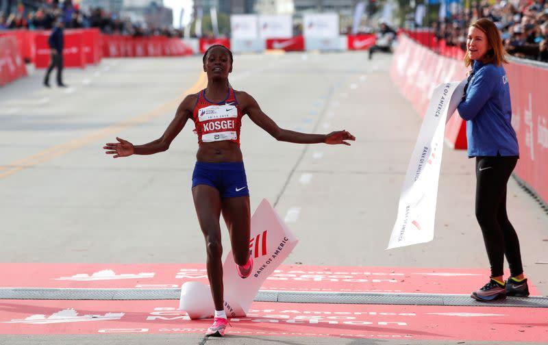 Kosgei says running in a loop at London Marathon will be tough