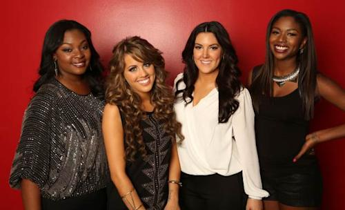 Candice Glover, Angie Miller, Kree Harrison and Amber Holcomb -- the 'American Idol' Season 12 Top 4 -- FOX