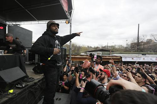 Schoolboy Q performs during the SXSW Music Festival Friday March 14, 2014, in Austin, Texas. (Photo by Jack Plunkett/Invision/AP)