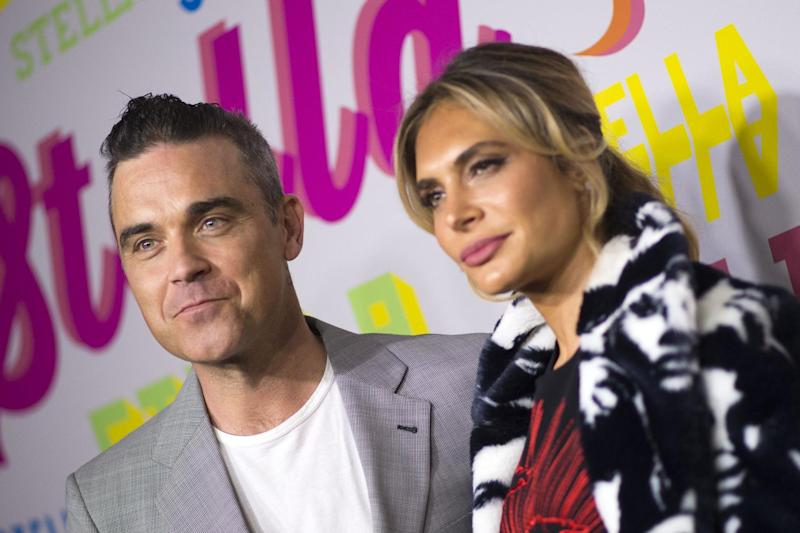 Singer Robbie Williams and actress Ayda Field: AFP/Getty Images
