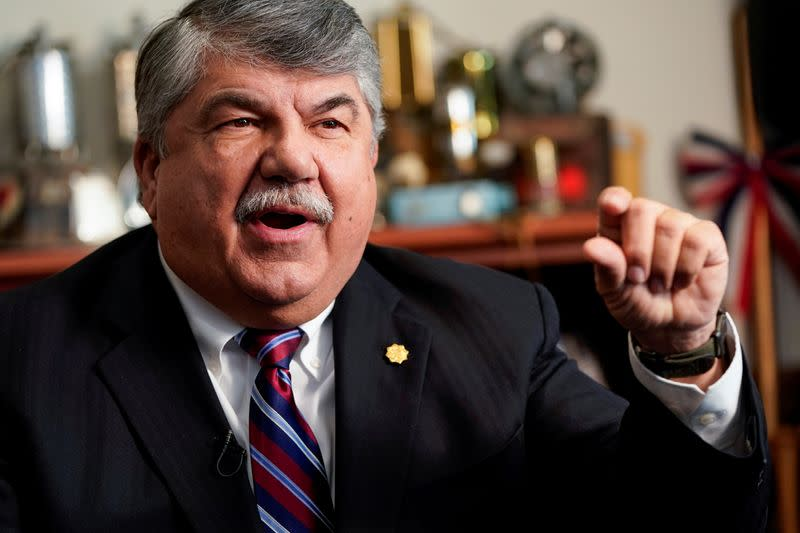 FILE PHOTO: President of the AFL-CIO Richard Trumka speaks about his role in securing labor protections in the USMCA trade agreement in Washington