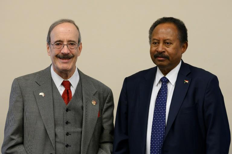 Sudanese Prime Minister Abdalla Hamdok meets with House Foreign Affairs Committee Chairman Eliot Engel at the US Capitol
