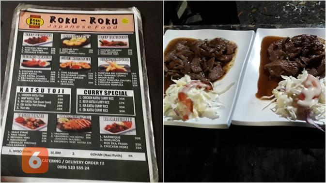 Roku-Roku di Jalan Fatmawati, Cilandak, Jakarta Selatan, menyediakan hidangan Jepang yang menggugah selera dengan harga yang cukup terjangkau (Liputan6.com/Komarudin)