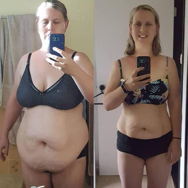 Crystal dropped 20 kg, and gained a new perspective. Photo: Supplied