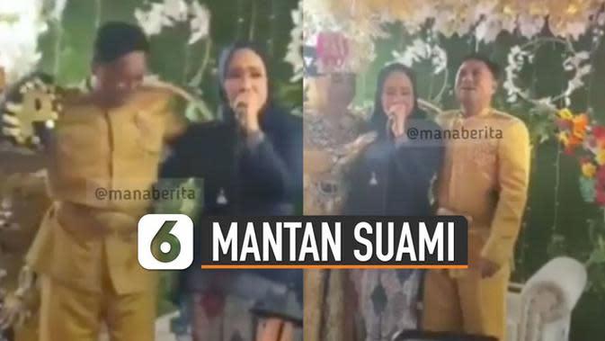 VIDEO: Viral Pelukan Mantan Istri di Resepsi Pernikahan Mantan Suaminya