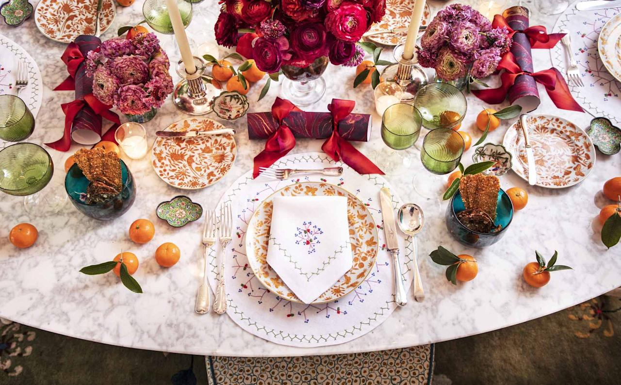 "<p><a href=""https://www.veranda.com/luxury-lifestyle/entertaining/g33807488/christmas-party-ideas/"" target=""_blank"">Gathering with friends and family is a time to break bread and celebrate</a>—and a time to show off (just a little) your hosting skills. Throwing a <a href=""https://www.veranda.com/shopping/home-accessories/g33773981/best-throw-blankets/"" target=""_blank"">cozy blanket</a> over the sofa or <a href=""https://www.veranda.com/luxury-lifestyle/g32873100/fall-wreath-ideas/"" target=""_blank"">hanging a wreath</a> on the door may make for easy <a href=""https://www.veranda.com/luxury-lifestyle/g32894313/fall-home-decor-ideas/"" target=""_blank"">holiday decorating</a>, while setting the Christmas table lends itself more easily to creative and dramatic displays of festive embellishment. </p><p>As seasoned event planner <a href=""https://www.veranda.com/luxury-lifestyle/a29602781/rebecca-gardner-holiday-party-secrets/"" target=""_blank"">Rebecca Gardner</a> reminds us, ""Everything fancy requires a mischievous wink. This could be a collection of tiny Chinese figurines peeking from behind floppy poppy petals or a provocative game of Would You Rather... calligraphed on the back of the menu. A little twist goes a long way."" Of course, the devil is in the details, and a well-thought table will encourage a long night of conversation and merriment.</p><p>Whether you're envisioning something eye-catching and unconventional or a more laid-back gathering for this holiday season, you can jumpstart the creative planning from our favorite Christmas table decor ideas right here.</p>"