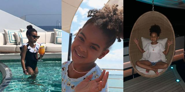 These photos of Blue Ivy Carter on holiday with Beyoncé are highly aspirational