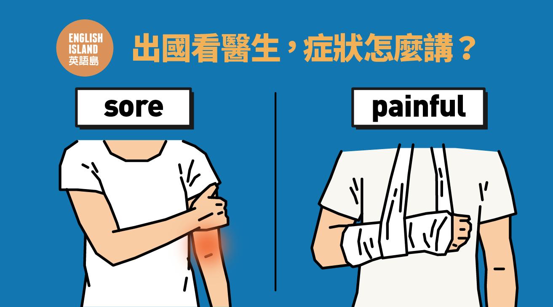 【英語小測驗】出國看醫生,症狀怎麼講?