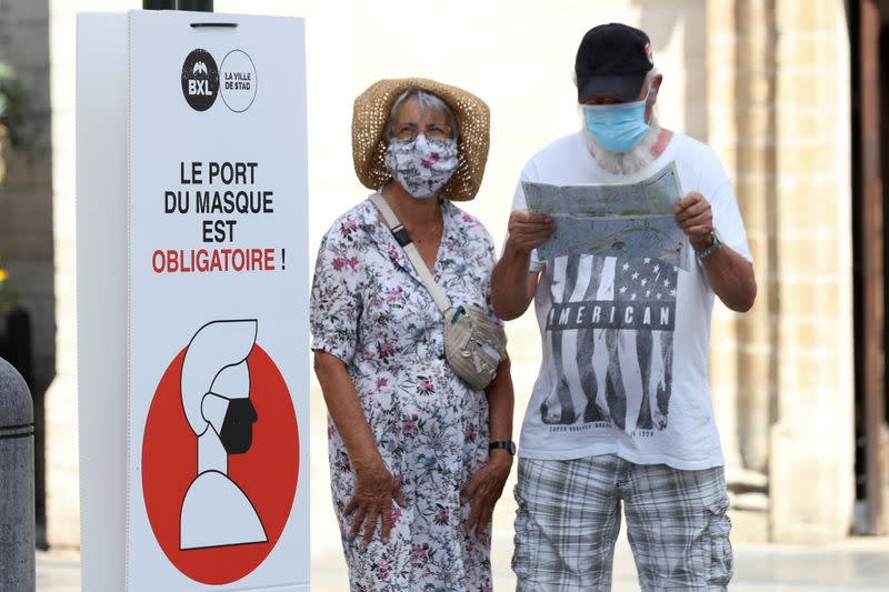 Brussels to require face masks if virus uptick continues