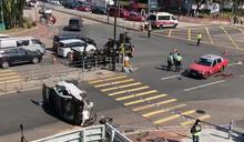 電單車與私家車沙田鄉事會路相撞 電單車司機死亡