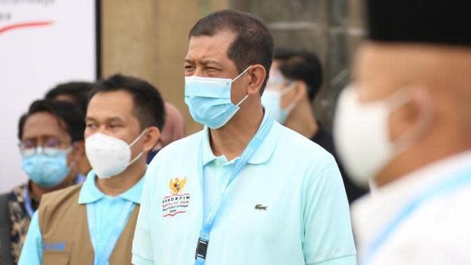 Ketua Satgas COVID-19 Doni saat Rapat Koordinasi Pimpinan (Rakorpim) Komite Penanganan COVID-19 dan Pemulihan Ekonomi Nasional (PC-PEN) dan Kementerian/Lembaga (K/L), di Kawasan Wisata Lagoi, Bintan, Kepulauan Riau, Jumat (25/9/2020). (Badan Nasional Penanggulangan Bencana/BNPB)