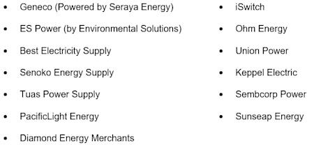 OEM 13 Electricity retailers