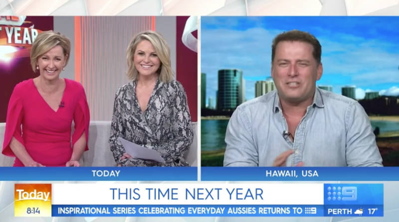 Former Today host Karl Stefanovic was on Channel Nine to speak about his upcoming show, This Time Next Year which premieres August 12