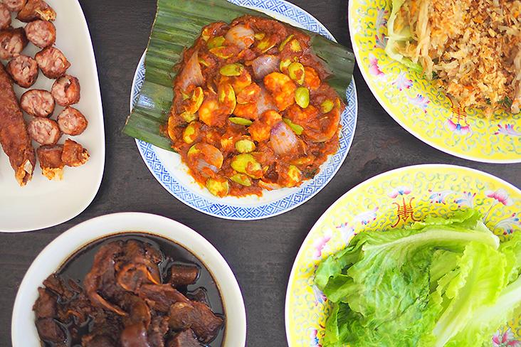 Your meal at home during this CMCO just became better with 'petai' prawns, vinegared pork trotters, 'ju hu char' and 'lorbak'. — Pictures by Lee Khang Yi