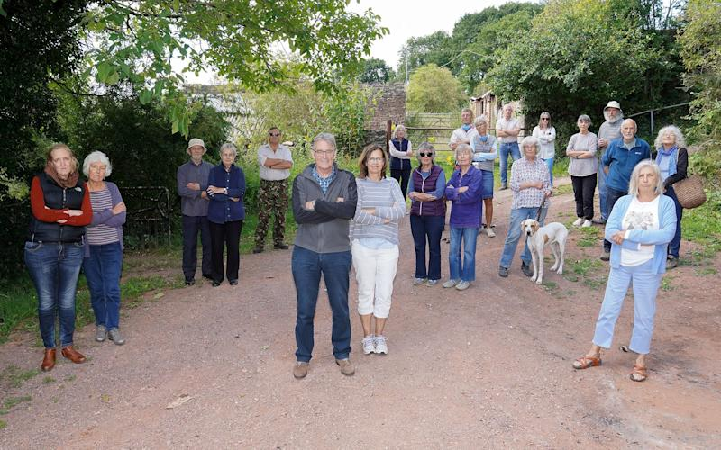 Llangrove residents are unhappy about the plans for the barns at Tretawdy Farm nature reserve - Hereford Times/SWNS