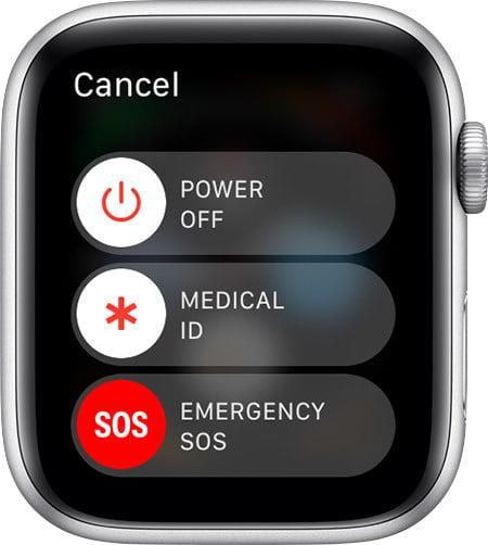 how to set up fall detection on apple watch watchos5 series4 power off med id emergency sos options