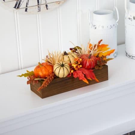 Harvest Pumpkin And Berries Arrangement. (Image via Wayfair)