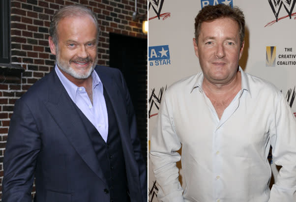 Kelsey Grammer walks out on TV interview after seeing photo of ex-wife Camille