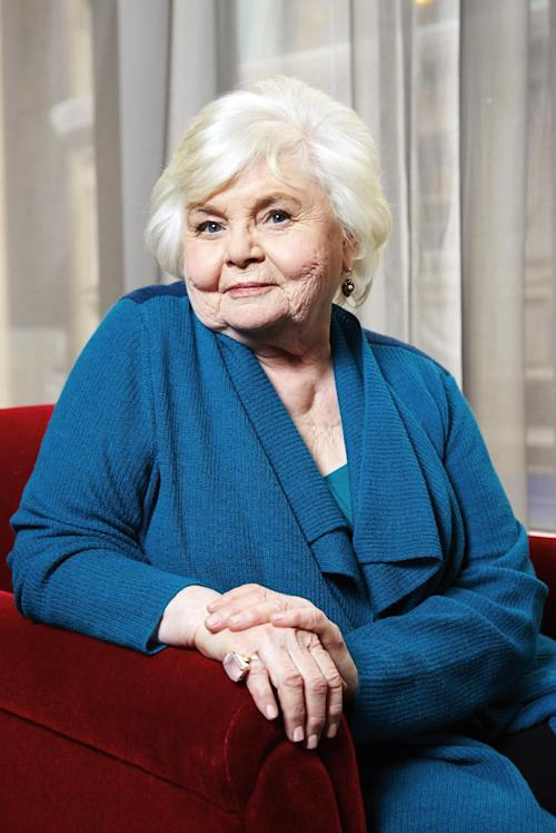 "This Jan. 27, 2014 photo shows Oscar-nominated actress June Squibb in New York. Squibb is nominated for best supporting actress for her role in ""Nebraska."" (Photo by Dan Hallman/Invision/AP)"