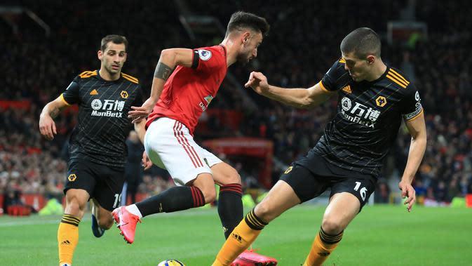 Gelandang Manchester United, Bruno Fernandes (MU) (LINDSEY PARNABY / AFP)