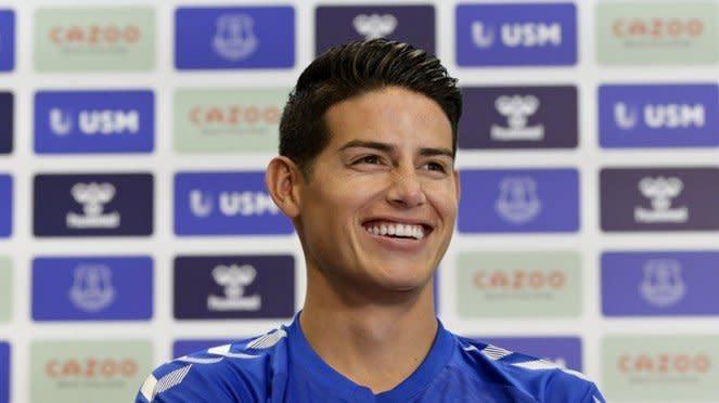 James Rodriguez resmi jadi pemain Everton