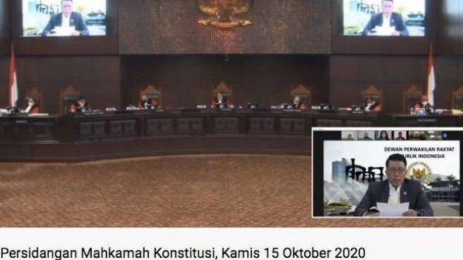Perwakilan DPR Minta MK Tolak Uji Materi UU Penetapan Perppu Corona