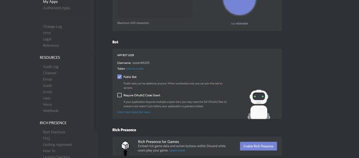how to make a discord bot bot box