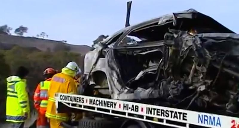 Girl, 9, and her father among three killed in horror crash