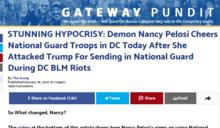 裴洛西昔批川普BLM期間調國民兵 今讚對付川粉國民兵「拯救民主」