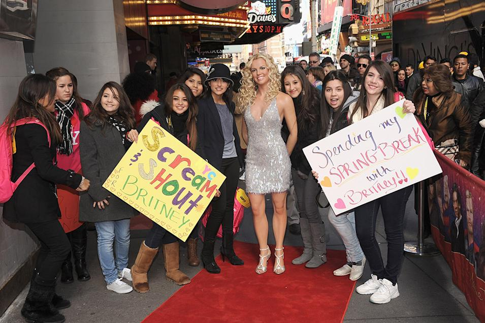 Britney Spears Wax Figure Unveiling At Madame Tussauds