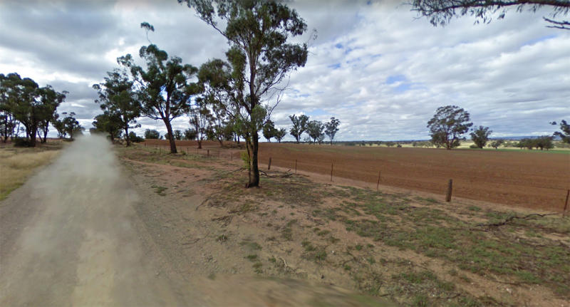 The rural property is located along Hoopers Road in Forbes. Pictured is a Google streetview of the area.