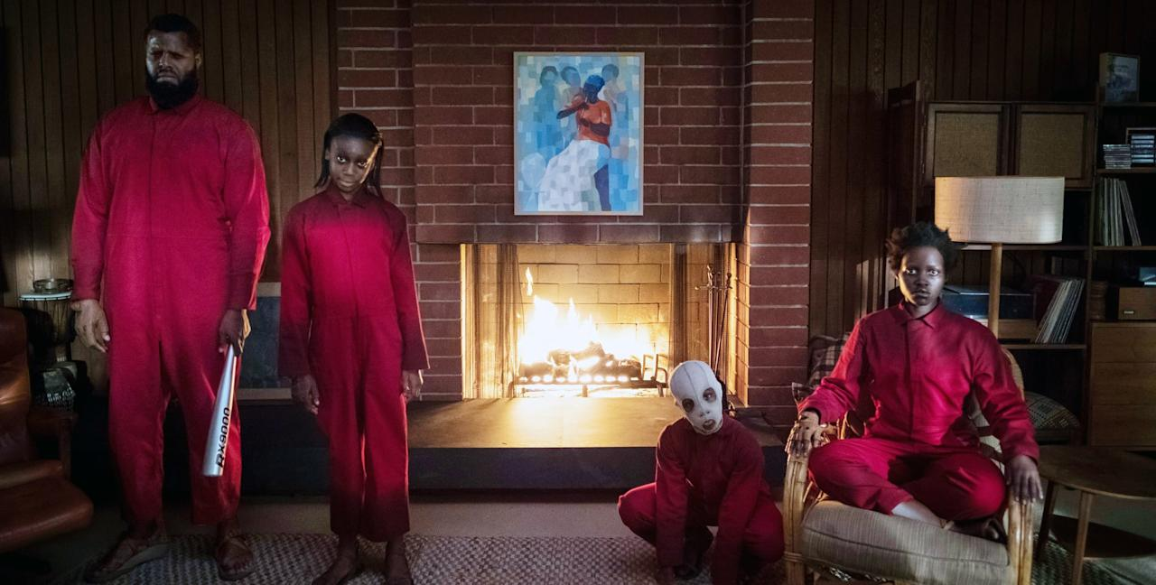 <p><strong>For Tethered Adelaide:</strong> A red long-sleeve jumpsuit and a pair of scissors.</p> <p><strong>For Tethered Gabe:</strong> A red long-sleeve jumpsuit and a baseball bat.</p>
