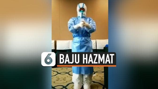 VIDEO: Perjuangan Tenaga Medis Pakai Hazmat di Tengah Pandemi Virus Corona