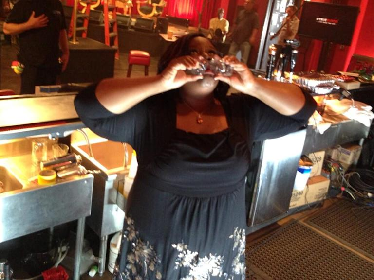 .@southerngirlndc wanted to see behind the bar in Fangtasia. @unfoRETTAble answered.