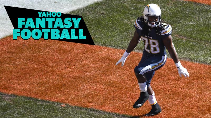 Our fantasy experts discuss the holdouts of Melvin Gordon and Ezekiel Elliott on the latest Yahoo Fantasy Football Podcast. When should fantasy owners draft these elite running backs? (Photo by: 2018 Nick Cammett/Diamond Images/Getty Images)