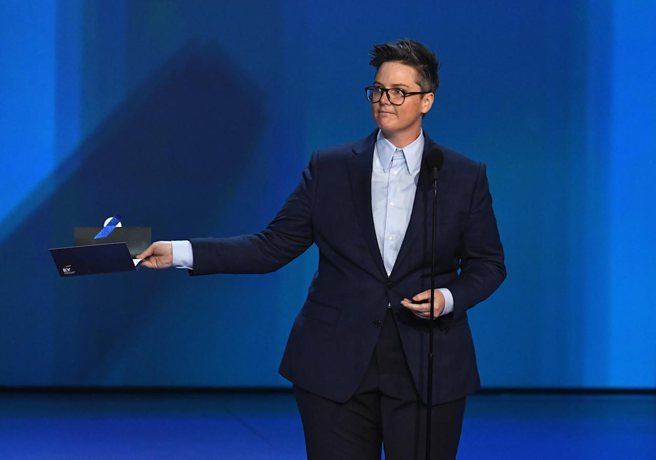 <p>Hannah Gadsby is the Australian comedian who stole the show at the 2018 Emmy Awards.<br />Photo: Getty </p>