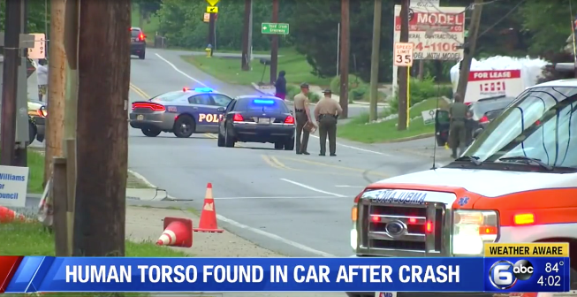 Torso found in car after police chase in Knoxville. SourceL WATE 6