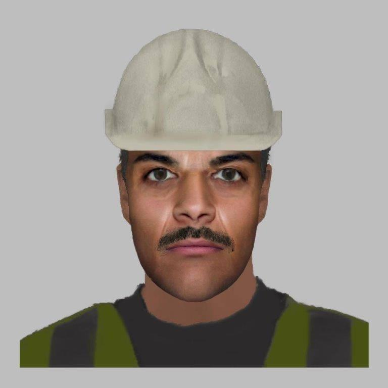 The e-fit that had people laughing. Source: Facebook/Cleethorpes Community Policing Team