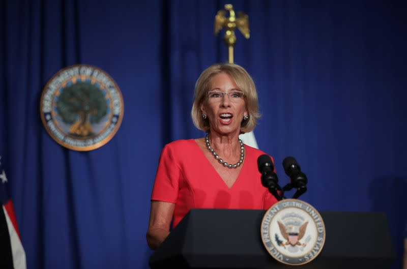 U.S. could redirect funds to schools that don't close during pandemic - DeVos