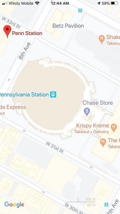 how to use google maps penn1