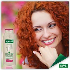 KOMILI 橄欖油成份洗髮水-染髮 600毫升