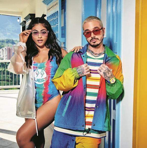The Guess x J. Balvin Colores capsule will be available online and from stores this spring