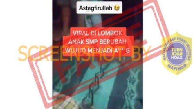 Viral 'Video Anak SMP Berubah Wujud Jadi Anjing di Lombok', Faktanya